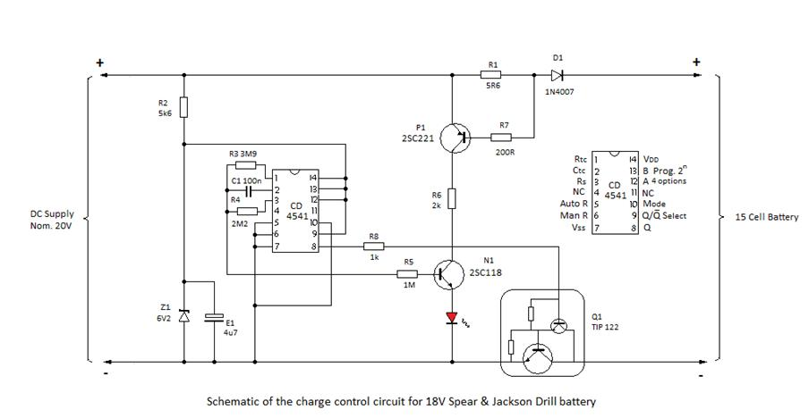 18V Nicad Charge Control